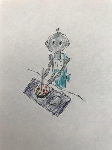 料理するロボット